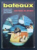 Revue magazine BATEAUX n° 153 février 1971 construire son Optimist