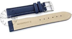 Watchband with Stainless Steel Waterproof Synthetic Fiber (PU) 0 23/32in 0