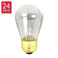 Feit String Light & Sign Replacement S14 Bulbs Incandescent 2700K Clear 24 pack
