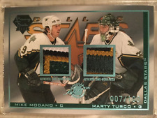 2003-04 Pacific Luxury Suite #32B Mike Modano PATCH Marty Turco PATCH /100