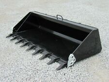 84 Heavy Duty Low Profile Tooth Bucket Attachment Fits Skid Steer Loader