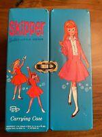 Vintage Barbie, Skipper, carrying case & hangers 1964
