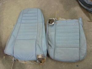 1980 Jeep CJ blue seat cover front highback material CJ5 CJ7 w/ cracks