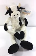 Plush Cow 2000 Toys R Us Stuffed Animal with Tags Hook and Loop Legs Collectible