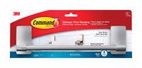 3M COMMAND  Medium  Adhesive Strips  Hanger  11-3/4 in. L PLASTIC  3 lb. 1 pk