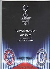 Orig.PRG   UEFA Super Cup 2013  Finale   FC CHELSEA - BAYERN MÜNCHEN  !!  SELTEN