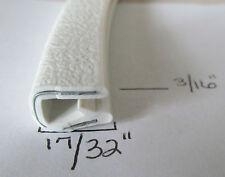 "3/16"" x 17/32"" WHITE Edge Trim Lock Vinyl PVC Camper RV Boat Seal Permanent Grip"