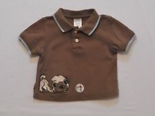 """Gymboree """"Puppy Playtime"""" Puppy Dog Ball Brown Polo Top, 3-6 mos."""