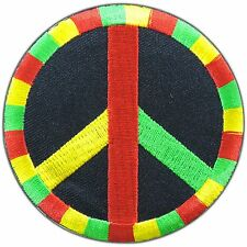 Peace One Love Rasta Rastafari Hippie Retro Boho Reggae Iron-On Patches #0939