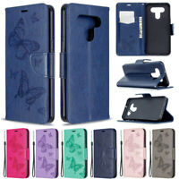 Butterfly Wallet Leather Flip Stand Card Slots Case Cover For LG K51 K61 Stylo 5