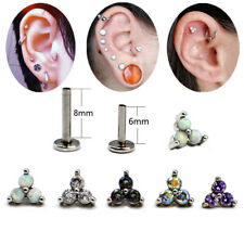 Cartilage Earring Tragus Piercing Labret Lip Stud Helix Conch Daith Jewelry