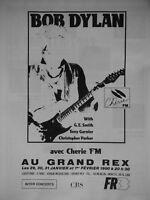 PUBLICITÉ DE PRESSE 1990 BOB DYLAN AVEC CHÉRIE FM AU GRAND REX - ADVERTISING