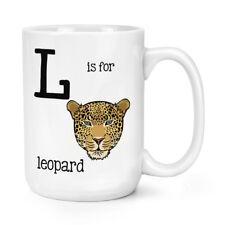 L Is Per Leopardo 426ml Possente Tazza - Divertente Animale Grandi