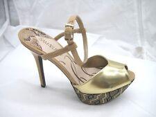 52b7427de25f Sam   Libby size 9.5M gold beige platforms womens ladies shoes heels pumps  57147
