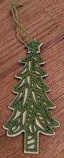 vintage wooden cutout Christmas tree ornament Unique Festive Holiday X-Mas OOAK