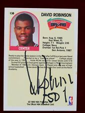David Robinson 1989 NBA Hoops Rookie Card AUTOGRAPHED AUTHENTIC!