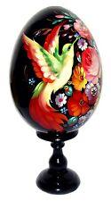 Oeuf decore peint oeuf en bois Oiseau de paradis Russie