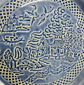 Vintage Paden City Pottery Blue Willow Design Plate Made In USA