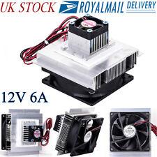 12V 6A Thermoelectric Peltier Refrigeration Cooling System Kit Cooler Fan DIY JW