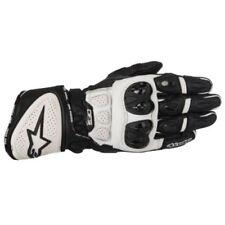 Gants blancs Alpinestars en cuir pour motocyclette