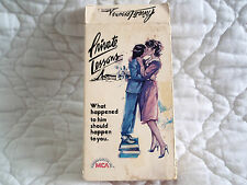 PRIVATE LESSONS VHS SYLVIA KRISTEL HOWARD HESSEMAN ERIC BROWN 80'S TEEN COMEDY