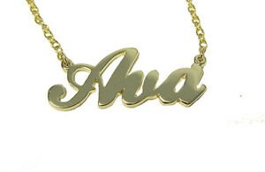 Up to 3 letters in 9k yellow gold