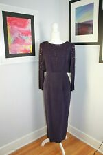 Dana Buchman Silk Dress Bead Overlay Size 6 Purple