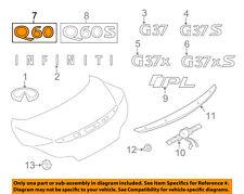 Infiniti NISSAN OEM 14-15 Q60 Trunk Lid-Emblem Badge Nameplate 848903WJ0A