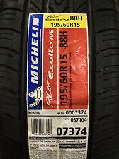 1 New 195 60 15 Michelin Pilot Exalto A/S Tire