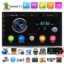"7"" 2DIN Bluetooth Quad Core Android 7.1 3G WIFI Car Stereo MP5 FM Radio GPS Navi"