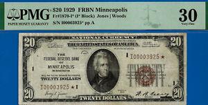 FR-1870-I* - 1929 $20 National (( FRBN Minneapolis - STAR )) PMG 30 - I3925*-