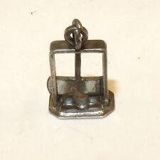 VINTAGE .925 Sterling Silver GUILLOTINE Bracelet CHARM Moving Estate 925 VT50D
