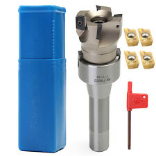4PCS APMT1604 Carbide Inserts + R8 FMB22 Shank 400R 50mm Face End Mill Cutter S%