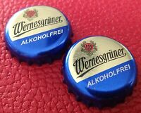 Crown Cap KK Wernesgrüner Alkoholfrei 2x Kronkorken Sachsen Bottle Cap