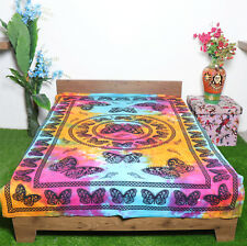 Twin Size Hippie Cotton Mandala Tapestry Butterfly Print Wall hanging Beach Mat