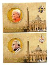 Filippine  Canonizzazione Giovanni Paolo II e Giovanni XXIII  2 foglietti