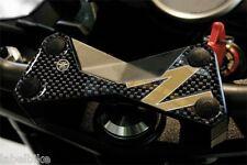 PROTEZIONE 3D PIASTRA FORCELLA compatibile per MOTO KAWASAKI Z750 Z1000 z oro