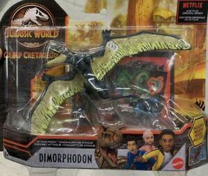 Jurassic World Attack Pack Dimorphodon Green Yellow Camp Cretaceous Mattel