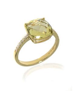 Salvini Trilly 18k Yellow Gold Diamond & Quartz Ring Sz 7.5 20043765 MSRP $1940
