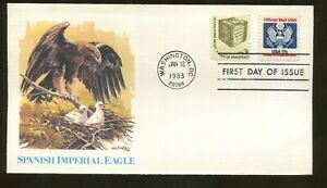1983 Washington DC - Official Mail Stamp - Spanish Imperial Eagle- Fleetwood FDC