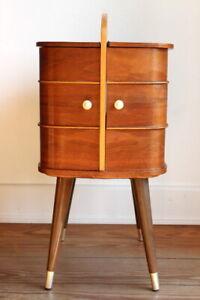 Danish Design Teakholz Nähkasten Nähkasten Teak Vintage 60er Jahre Sewing Box