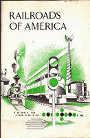 Railroads of America (1969) booklet Trains Association of American Railroads