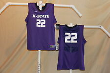 low priced 5d049 d18f0 KANSAS STATE WILDCATS Nike  22 Basketball JERSEY Youth Large NWT  50 retail