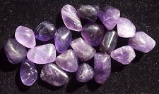 Extra Small Tumbled Amethyst Crystal-Master Healing Gemstone, Info Card & Bag