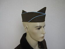 US Army Officer's Olive Step Garrison Cap Béret 61 Side Cap Blue pipe WWII