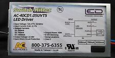 AC ELECTRONICS AC-40CD1.15UVTS 40 WATT LED DRIVER! SWITCH HITTER!!CREE APPROVED!