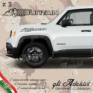 Adhesives Jeep Renegade Mountain 27° S 68° W For The Bonnet Lateral
