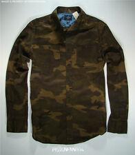 American Eagle Mens Olive Green & Brown Camo Shirt SMALL NWT