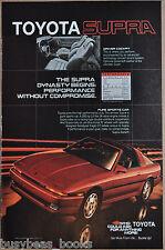 1986 TOYOTA SUPRA Advertisement, Toyota Supra Sports Car, top off