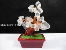 #BG Clear Feng Shui Chinese Japanese Crystal Gemstone Bonsai Lucky Money Tree
